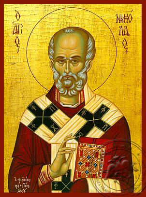 Saint Nicholas, Archbishop of Myra in Lycia - Hand Painted Icon