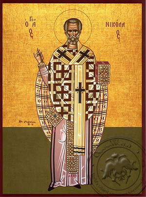 Saint Nicholas, Archbishop of Myra in Lycia, Full Body - Hand Painted Icon
