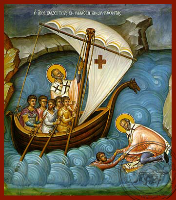 Saint Nicholas, Help of Mariners - Hand Painted Icon