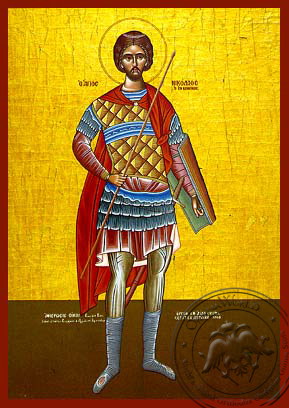 Saint Nicholas, the New Martyr of Vounena, Greece, Full Body - Hand Painted Icon
