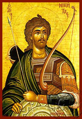 Saint Nikitas - Hand-Painted Icon