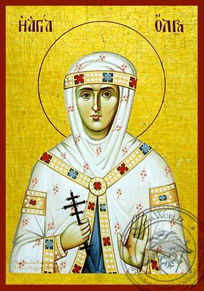 Saint Olga - Hand-Painted Icon
