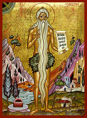 Saint onuphrius of Egypt, Full Body - Hand Painted Icon