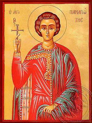 Saint Panagiotes - Hand-Painted Icon