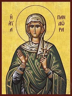 Saint Pandora - Hand Painted Icon