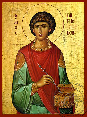 Saint Panteleemon - Hand-Painted Icon