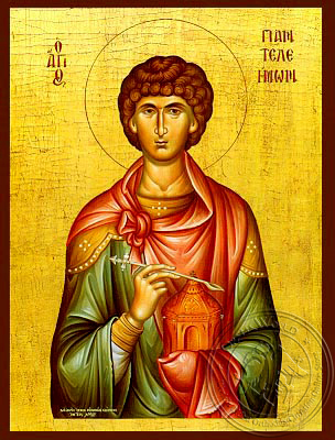 Saint Panteleimon, the Great Martyr - Hand Painted Icon