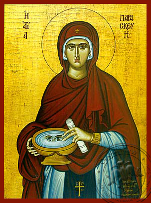 Saint Parasceve, the Great Martyr, of Rome - Hand Painted Icon