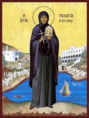 Saint Pelagia of Tenos Full Body - Hand Painted Icon