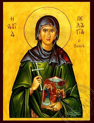 Saint Pelagia Of Tinos - Hand-Painted Icon