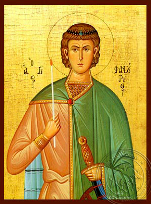 Saint Phanurius, the Great Martyr - Hand Painted Icon
