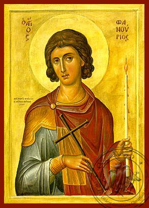 Saint Phanourios - Hand-Painted Icon