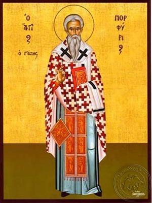 Saint Porfyrios Bishop of Gaza Full Body - Hand Painted Icon