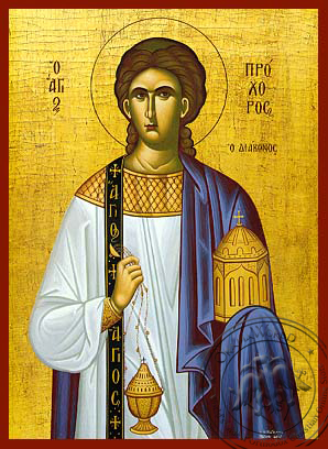 Saint Prochorus the Apostle and Deacon - Hand Painted Icon