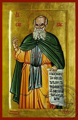 Saint Savvas - Hand-Painted Icon
