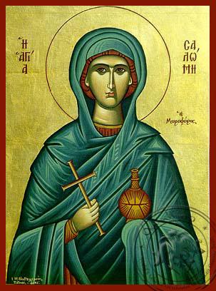 Saint Salome the Myrrh_Bearing - Hand-Painted Icon
