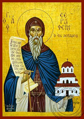 Saint Seraphim of Levadia - Hand-Painted Icon