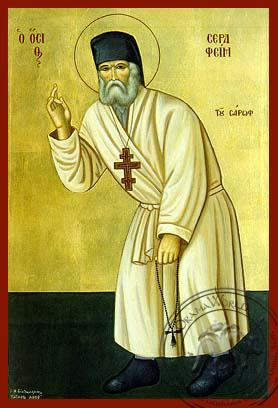 Saint Seraphim of Sarov - Hand-Painted Icon