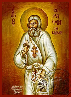 Saint Seraphim, of Sarov - Hand Painted Icon