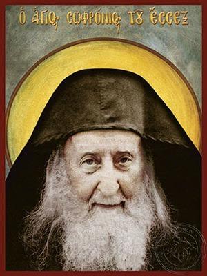 Saint Sofronios Sacharof of Essex Bust - Hand Painted Icon
