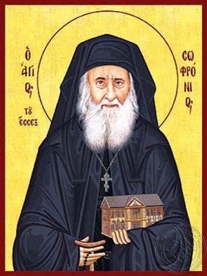 Saint Sofronios Sacharof of Essex - Hand Painted Icon