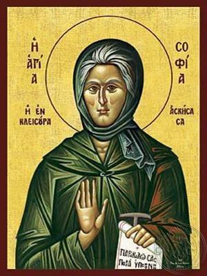 Saint Sophia Ascetic of Kleisoura Greece - Hand Painted Icon