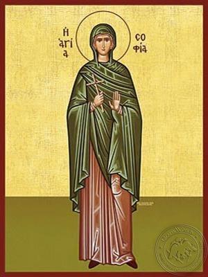 Saint Sophia Full Body - Hand Painted Icon