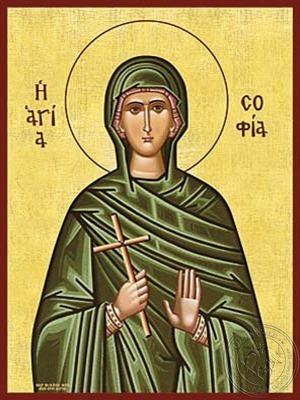 Saint Sophia - Hand Painted Icon