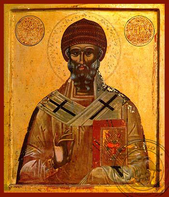 Saint Spyridon, Bishop of Tremithon, Cyprus - Hand Painted Icon