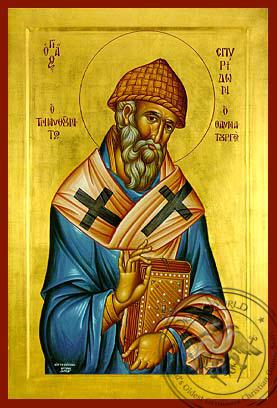 Saint Spyridon - Hand-Painted Icon
