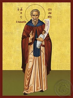 Saint Stylianos of Paphlagonia Full Body - Hand Painted Icon