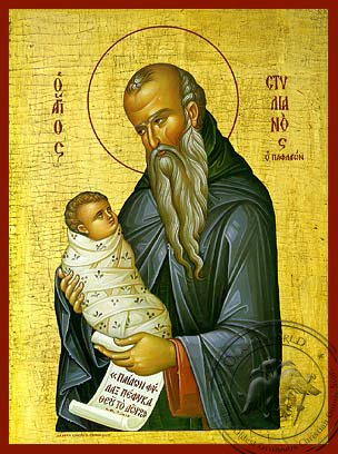 Saint Stylianos - Hand-Painted Icon