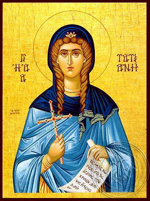 Saint Tatiana, Martyr, of Rome - Hand Painted Icon