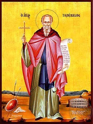 Saint Telemachus the Monk Full Body - Hand Painted Icon