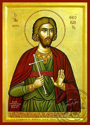Saint Theokletos - Hand-Painted Icon