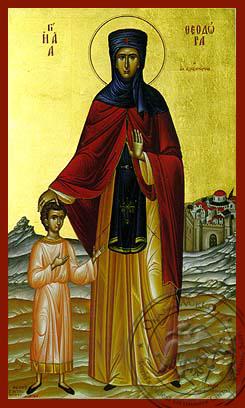 Saint Theodora of Alexandria, Full Body - Hand Painted Icon