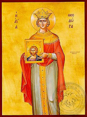 Saint Theodora, the Emperess of byzantium - Hand Painted Icon