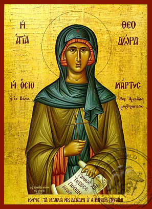 Saint Theodora of Vasta - Hand-Painted Icon