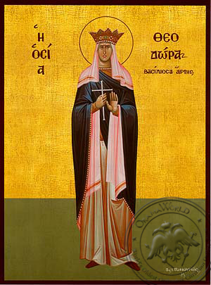 Saint Theodora, Queen of Arta, Greece, Full Body - Hand Painted Icon