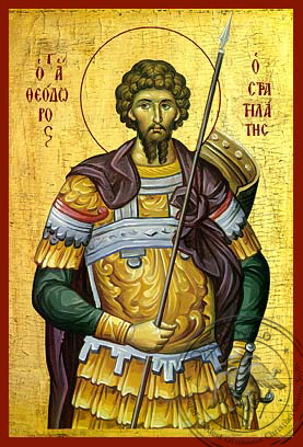 Saint Theodore the Stratelates - Hand-Painted Icon