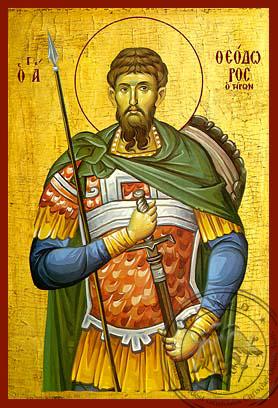 Saint Theodore Tiro - Hand-Painted Icon