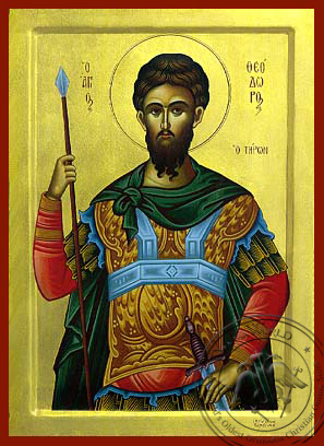 Saint Theodore the Great Martyr, Tyro - Hand Painted Icon