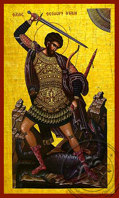 Saint Theodore the Great Martyr, Tyro, Full Body - Hand Painted Icon