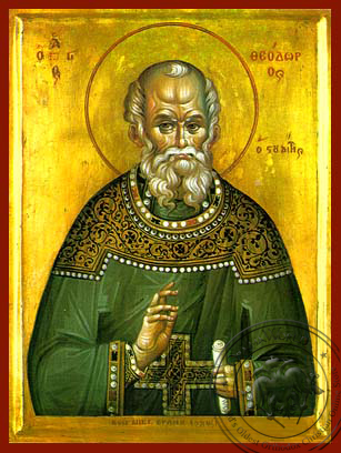 Saint Theodore the Confessor, Abbot of the Studion - Hand Painted Icon