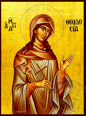 Saint Theodosia - Hand-Painted Icon