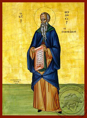 Saint Theodosius, the Cenobiarch, Full Body - Hand Painted Icon