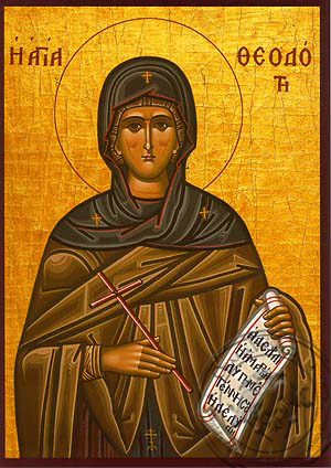 Saint Theodota, Martyr, in Ancyra - Hand Painted Icon