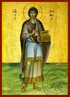 Saint Tryphon - Hand-Painted Icon