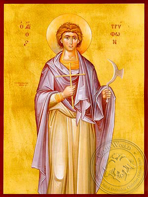 Saint Tryphon, Martyr - Hand Painted Icon