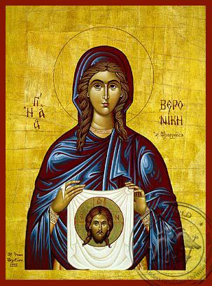 Saint Veronica - Hand-Painted Icon